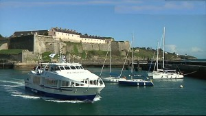 Belle-Île Küstenlandschaft mit Ferienhäusern